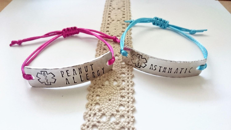 Children Medical Id Bracelet Adjustable Medical Id Medical