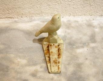Doorstop cast iron bird