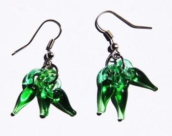 Gift Handmade Lampwork  Pepper Chili Glass Charm earrings! Free USA shipping!