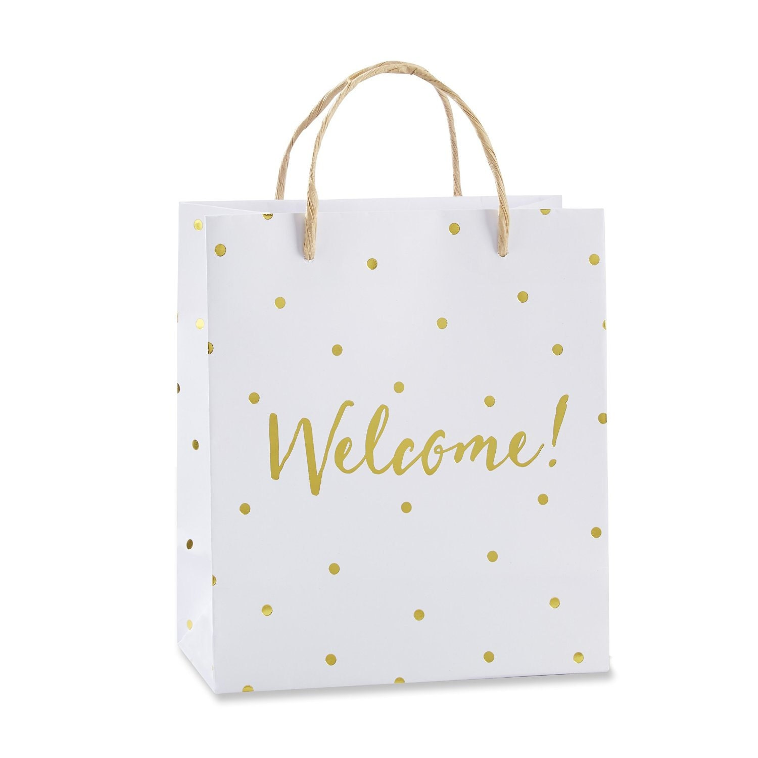 Welcome Wedding Gift Bags: 12 Gold Foil Dot Welcome Bags Wedding Gifts Bag Bridal Shower