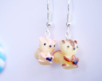 cute squirrel earrings
