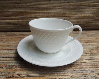 Vintage White Spode Mansard English Fine Bone China Cup & Saucer