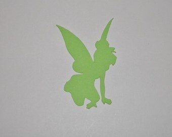 Tinkerbell Kneeling Die Cut Paper Punch Party Favor 25 pieces you choose color and size