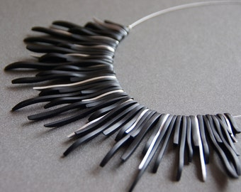Black Sunburst Ebony Necklace