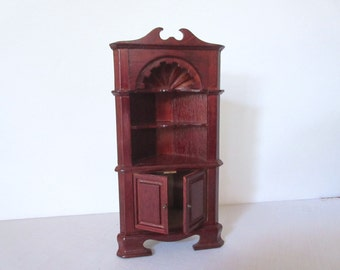 Vintage Dollhouse Furniture Miniature Furniture Dollhouse  Old Corner Hutch