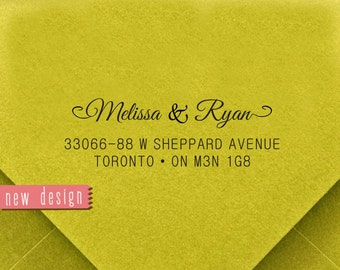 CUSTOM address STAMP from USA, Pre Inked stamp, Self Inking Stamp, rsvp stamp, Return Address Stamp with proof, Custom Wedding Stamp rb5-18