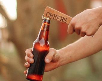 hardwood bottle opener
