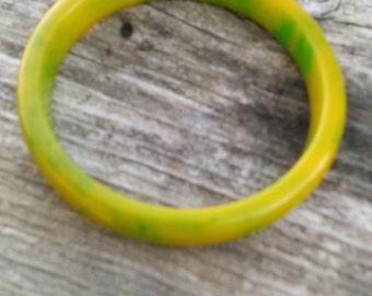 Awesome Colored Bakelite Bangle Bracelet