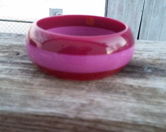 Lucite Stripe Bangle Bracelet