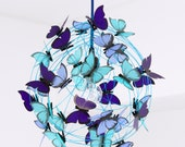 Ceiling lamp with sea colors butterflies-Shadow lamp Kids decor fun light colorful light Butterfly Kids Room Decor Living room bedroom decor
