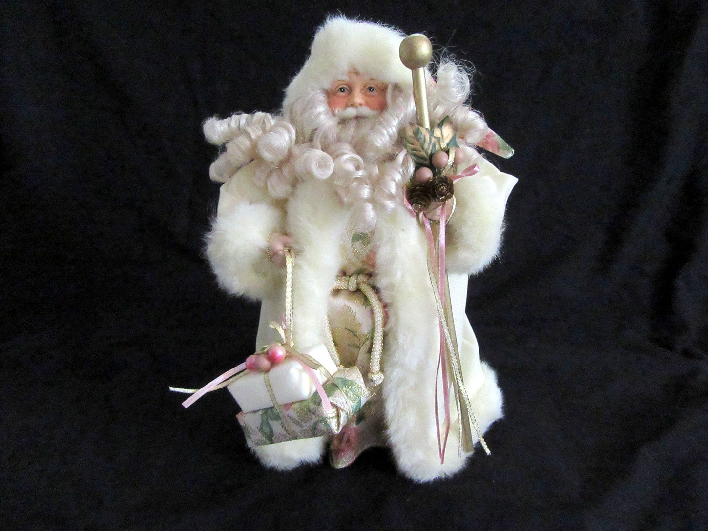 Old World Santa Claus Christmas Tree Topper Cone 12