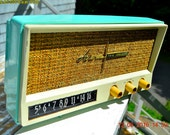 BLUETOOTH MP3 Ready - Aquamarine Blue Retro Jetsons Vintage 1959 Arvin 2585 AM Tube Radio Totally Restored!