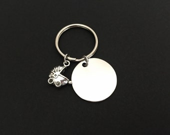 Expected Mom Key Chain. Baby Carriage Key Chain. Personalized Key Chain for Expected Parents. Baby Shower Gift. Pocket Keepsake Gift.