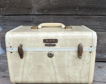 Vintage 40s/50s Samsonite Traincase, Train Case, Luggage, Carry on, Overnight Bag, Small Samsonite Luggage