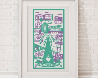 Camden print / London illustration