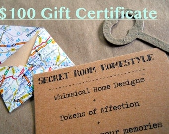 100 Dollar Gift Certificate for the Shop and Free Shipping