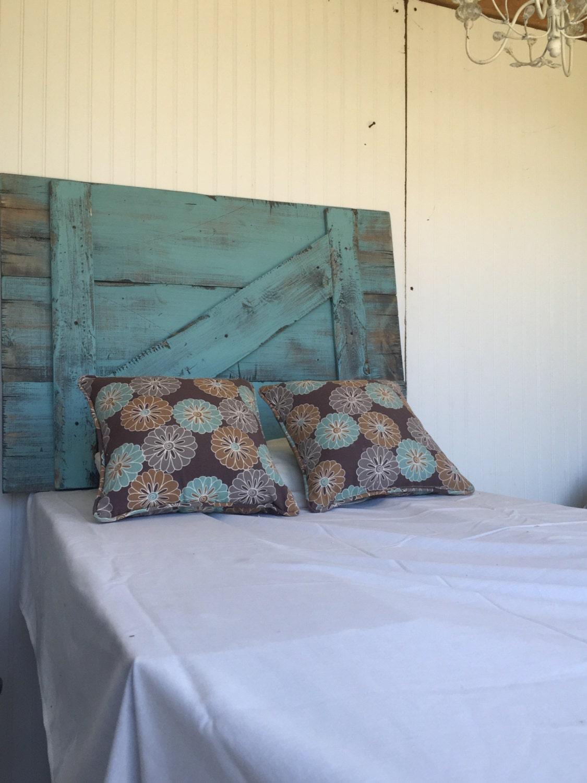 Rustic Headboard Turquoise Barn Door