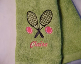 Free personalizing Beautifully embroidered tennis towel