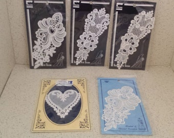 Lace Insets - Set of 5