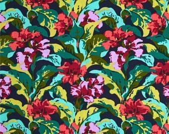 Bright Heart Tropi Canna Dusk - One Yard - Amy Butler Fabric