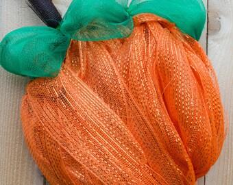 Pupmkin Wreath - Pumpkin Door Wreath - Fall Wreath - Fall Door Wreath - Pumpkin Decor - Pumpkin Door Decor - Lighted Pumpkin Wreath