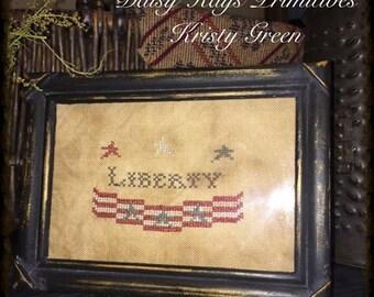 Primitive Liberty Banner Stitchery