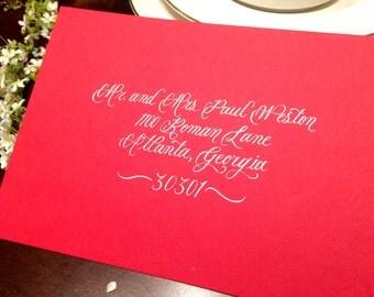 Wedding Calligraphy - Gwyneth Script Envelope Addressing