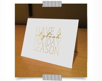 Have A Stylish Holiday Season Stationery Set
