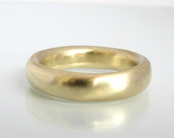 gold wedding band, yellow gold ring, thick gold ring, thick gold band, gold ring band, gold ring 14k, round ring, recycled gold ring