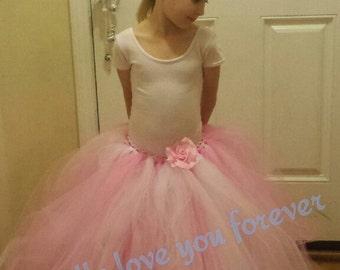 SPECIAL: New! Pink elegance flower girl tutu, full length flower girl tutu