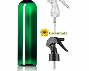 8 Ounce Green Bullet Bottle w/ Choice of Trigger Sprayer