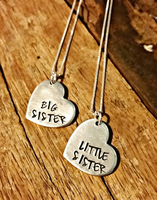 sister necklace set big sister little sister necklace set