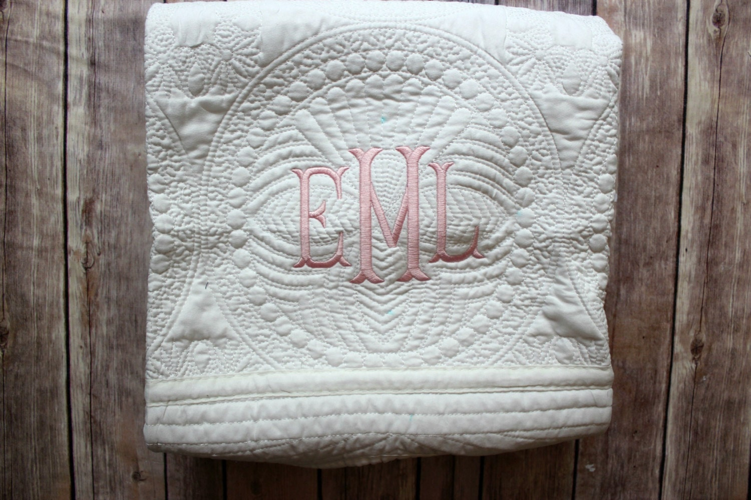 Monogram Baby Boy Blanket