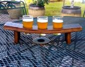 Wine Barrel Stave Beer Tasting Flight