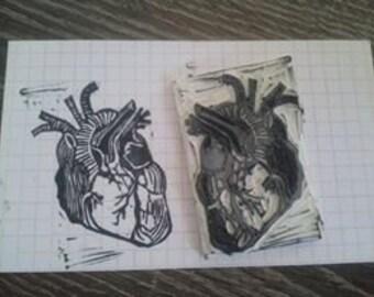 Heart rubberstamp