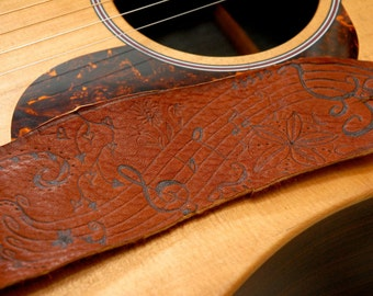 Doodle Guitar Strap - Leather guitar strap