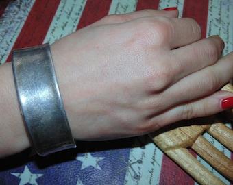 """BR220 Vintage Estate Sterling Silver Wide Cuff Bracelet 17 grams 925 Jewelry 2.3"""" wide Jewellery"""