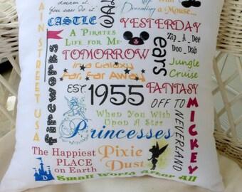 Disneyland Subway Art - Family Pillows - Childs gift - Subway tile pillows - Disney - Mickey Mouse pillows