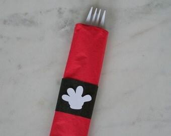 Mickey Napkin Wraps - Mickey Mouse Decoration - Disney Party - Mickey Mouse Party Decorations