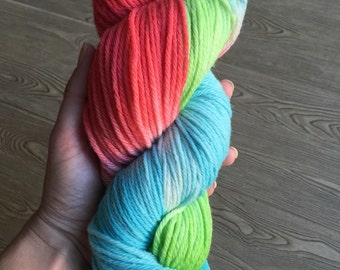 SALE Hand dyed Worsted weight yarn - Ariel RTS