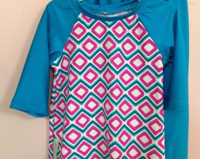 Plus Size Ladies Modest Swim Top/Raglan Style/Please allow 3 weeks for processing before shipment