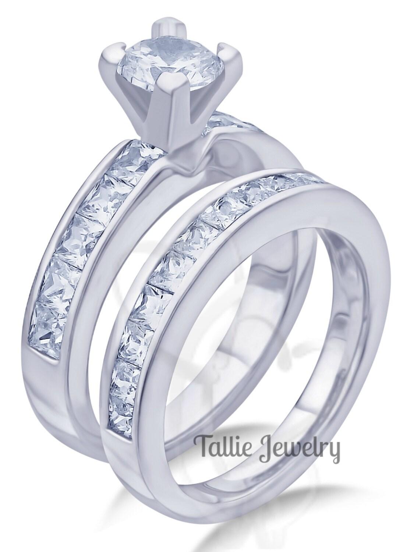 Carats Diamond Engagement Rings 14K Gold Wedding Bands Bridal Rings Set