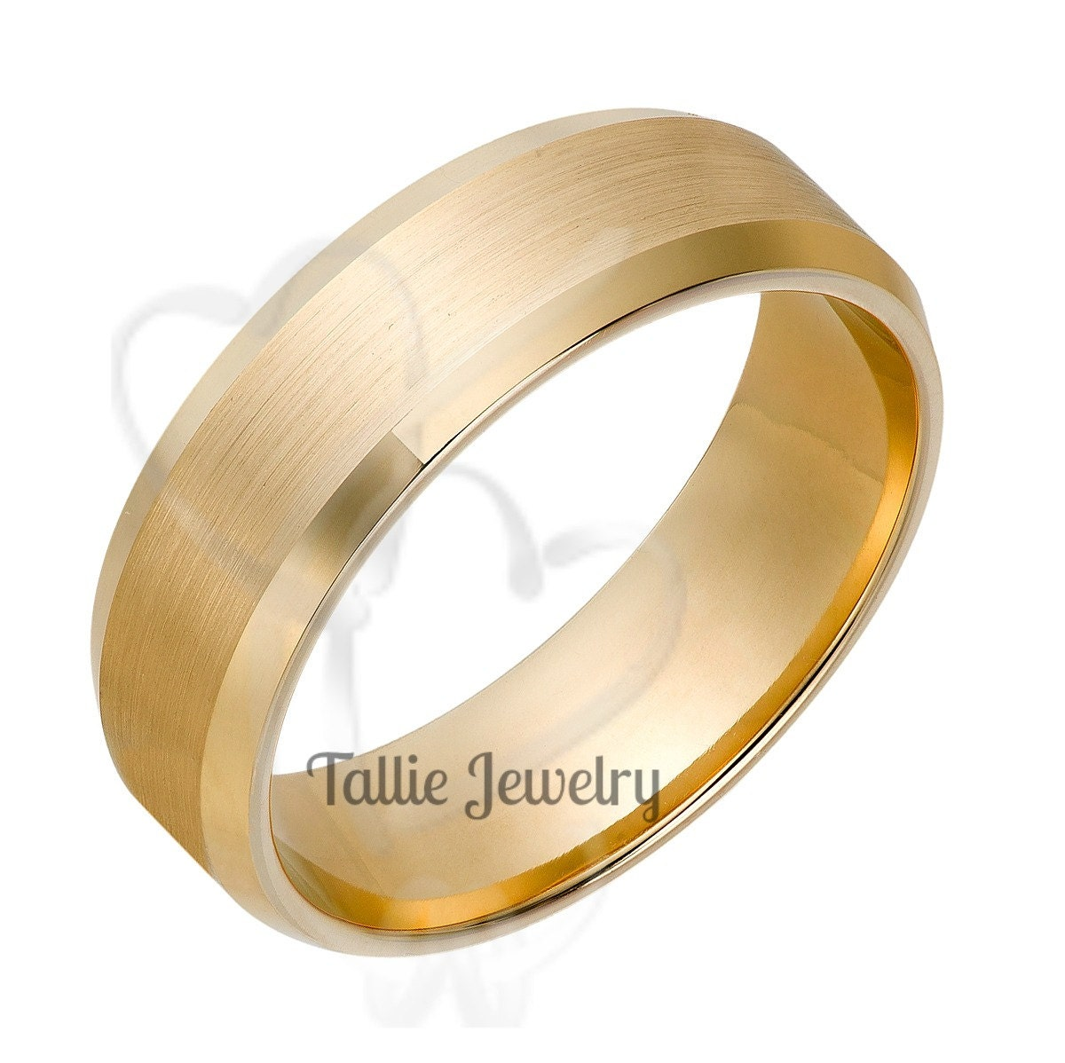 Mens 14k Yellow Gold Wedding Rings Womens Wedding Bands