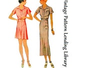 1933-34 Ladies Sports Ensemble - Reproduction Sewing Pattern #T7671