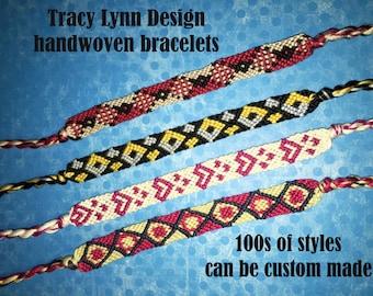 Friendship Bracelet - Woven Bracelet - Macrame Bracelet - Adjustable Bracelets - Custom Made - Stackable Bracelets - Handmade Anklet - #16