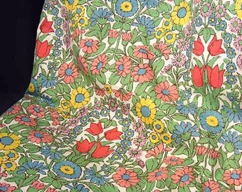 Vintage Jonelle Duracolor Daisy Chain Medium Weight Cotton Fabric By the Yard