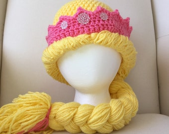 Princess Hat with Braid and Crown