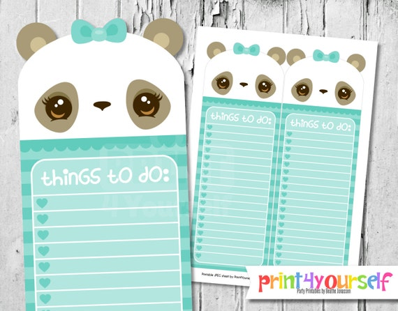 mint panda to do list to do list kawaii to do list to do list