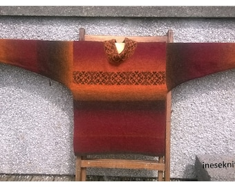 Free shipping to UK .Hand made jumper from real wool Kauni yarn,Sweater.Hand dyed wool,fair isle pattern on front.