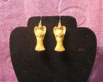GOLD ANGELS EARRINGS